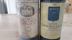 1979, Chateau Smith Haut Lafitte, Grand Cru Classé & 1967, Chateau Labegorce Margaux; two bottles