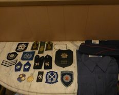 Lot of police items.