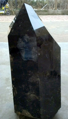 Huge Smoky Quartz point - 300 x 220 x 67mm - 80 kg