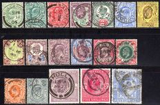 Great Britain 1887 - Queen Victoria, King Edward and George with Michel 102 - 117