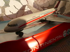 Vintage, from the Intercontinenetal airline  former DDR  Tin model IL 62 aeroplane, 1980s