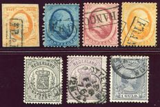 The Netherlands 1852/1894 - classic composition - NVPH 3, 4/6, 14, 18, 44.