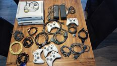 Lot of 2 XBOX 360 + 5 controllers + cables