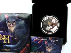 Australia – 50 Cent 2013 'Bush Babies – Possum'  1/2 oz silver