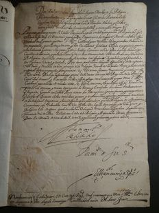 Appointment of the Ambassador of the Order of Malta before King Phillip II of Spain - 1595