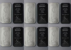 6 x 1 oz 999 silver bars - Silver Cook Islands Bounty Ship