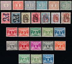 The Netherlands 1899/1926 - Four complete Numbers series
