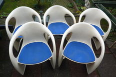 Alexander Begge for Casala – set of five 'modell 2007/2008 Casalino' chairs