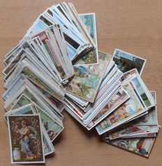 Iconography; Lot antique trade cards, 170 pieces