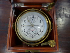 Russian ship's chronometer in box (numbered)