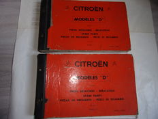 Citroen - ID/DS - Catalogues of parts in 2 volumes - 1970
