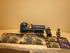 Technic - 8052 + 8260 + 8810 - Container Truck + Tractor + Alpha Racer