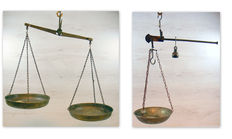 Two Hang scales./balance scales - bronze/copper/iron - United Kingdom