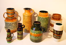 A collection of 120 beautiful West Germany vases