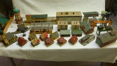 Scenery H0 - 30 Piece city with station, houses, church and much more