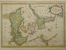 Denemarken; Thomas Kitchin - A new and accurate map of Denmark. - 1773