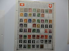 Assortment of stamps from Germany, Switzerland and Austria - Loose and on Album Pages