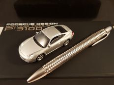 Porsche Design P'3110 Tecflex Ballpoint pen Collector's Edition with model car - 2009