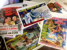 Posters; Lot with 17 film posters from the 1950s / 1970s