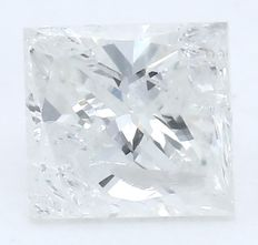 Princess Cut Solitaire Diamond  – 0.38 ct.