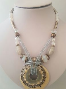 Chorange Paris ladies' necklace-handmade with gemstones.