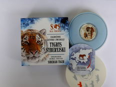 Niue – 1 Dollar 2014 'Endangered Animal Species – Siberian Tiger' – silver