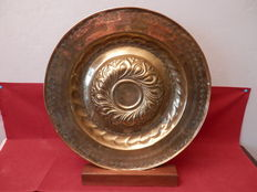 Large brass baptism dish - 16 ° century - Germany