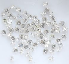 76 Round Brilliant Diamonds – 0.64 ct.