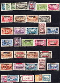 Greater Lebanon 1922/1957 – Almost complete collection of 192 stamps, including complete series and Airmails