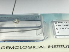 Brilliant cut diamond, 0.18 ct J Si11 with IGI certificate without reserve price