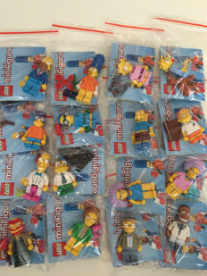 Collectible Mini figures - 71009 - The Simpsons Series 2 - Complete set with 16 mini figures