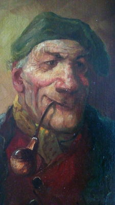 Georg Huber (19th/20th century) - Man with pipe