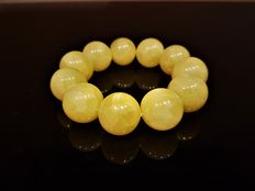 Bracelet from landscape amber, weight: 47 grams