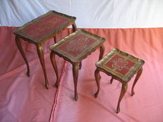 Three mahogany side tables, 1st half 20th century