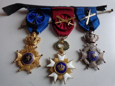 Three Belgian military medals