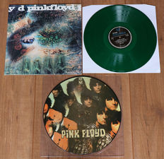Pink Floyd- lot of their first 2 records: The Piper At The Gates Of Dawn (limited edition picture disc, 500 copies only!) & A Saucerful Of Secrets (rare unofficial on green wax!)