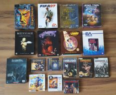 "Large retro PC Games collection - many Big box editions - 3,5"" Floppies - including Leisure Suit Larry, Baldur's Gate, Blade Runner, etc"