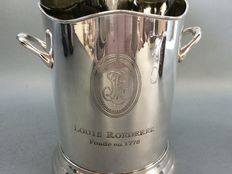 Silver plated champagne cooler with engraving Roederer, 21st century