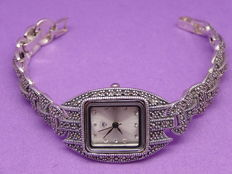 RS- Silver Marcasite Woman's Wristwatch