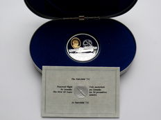 Canada – 20 Dollars 1993 'Powered Flight in Canada – La Fairchild 71C' – 1 oz silver, partially gold plated