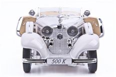 Maisto Premiere Edition - Scale 1/18 - Mercedes-Benz 500 K Special Roadster 1936 White