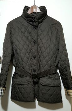 Burberry, women's coat, quilted, original vintage