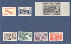 France 1930/1957 – Lot of airmail stamps  – Yvert n° 7, 8/13, 24/27, 29, 32, 33