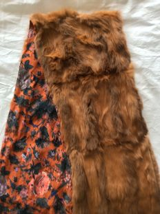 Large lined mink scarf