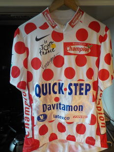 Signed cycling jersey Richard Virenque King of the mountains tour de France 2003