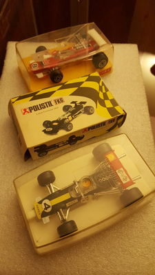 Politoys - 1/32 scale - Lot of 3 x Lotus F. 1 Racing Cars