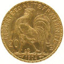 France – 20 Francs 1904 Liberty Head – gold.