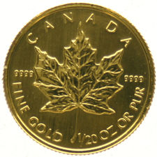 Canada - 1/20 Maple Leaf/Dollar   1997  goud