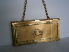 Compact clutch, gold coin purse in gold plating -  Napoleon III - circa 1880 - France