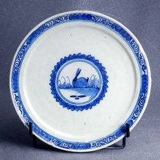 Delft antique faience plate 18th with a rabbit